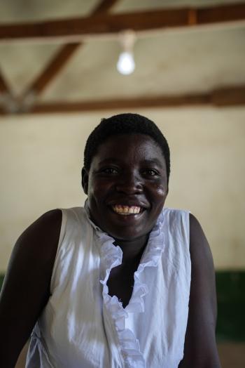 Student representative at Gumbwa primary school